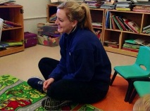 Aspiring teacher learns from daycare toddlers